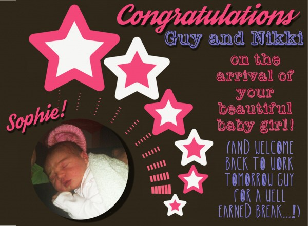 congratulation Guy and Nikki